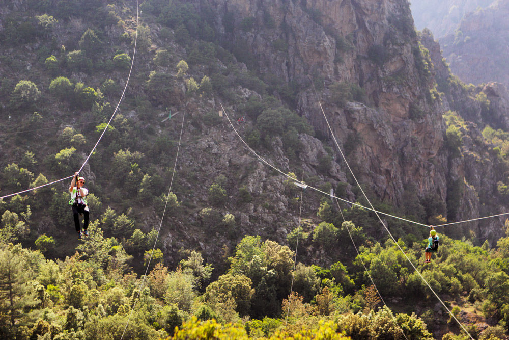 tyrolienne corse corsica montagne